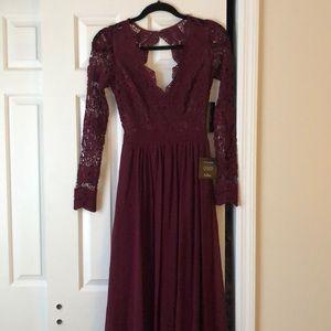 Lulu's Dresses - Lulu's Awaken My Love Long Sleeve Lace Maxi Dress